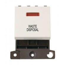 Click MiniGrid MD023PWWD P/White 20A DP Waste Disposal Mod Neon