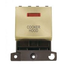 Click Minigrid 20A Switch Ingot DP 2 Module c/w Neon Satin Brass MD023SBCH