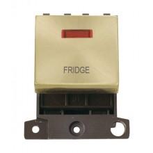 Click MiniGrid MD023SBFD Satin Brass DP Fridge Module + Neon