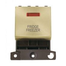 Click MiniGrid MD023SBFF Satin Brass DP Fridge Freezer Mod Neon