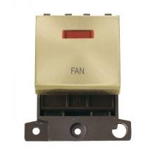 Click MiniGrid MD023SBFN Satin Brass DP Fan Module + Neon