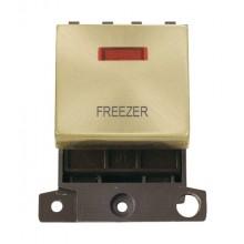 Click MiniGrid MD023SBFZ Satin Brass DP Freezer Module + Neon