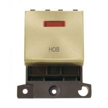 Click MiniGrid MD023SBHB Satin Brass DP Hob Module + Neon