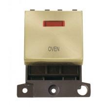 Click MiniGrid MD023SBOV Satin Brass DP Oven Module + Neon