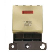 Click MiniGrid MD023SBTD  Satin Brass DP Tumble Dryer Mod Neon