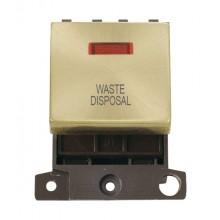 Click Minigrid 20A Switch Ingot DP 2 Module c/w Neon Satin Brass MD023SBWD