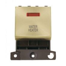Click MiniGrid MD023SBWH Satin Brass DP Water Heater Module Neon