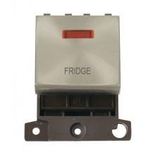 Click MiniGrid MD023SCFD Satin Chrome DP Fridge Module + Neon