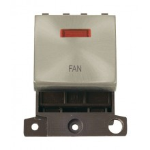 Click MiniGrid MD023SCFN Satin Chrome DP Fan Module + Neon