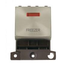 Click MiniGrid MD023SCFZ Satin Chrome DP Freezer Module + Neon