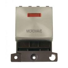 Click MiniGrid MD023SCMW Satin Chrome DP Microwave Module Neon
