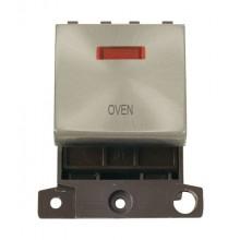 Click MiniGrid MD023SCOV Satin Chrome DP Oven Module + Neon