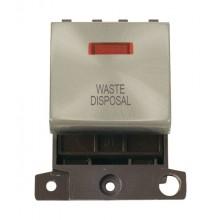 Click MiniGrid MD023SCWD Satin Chrome DP Waste Disposal Mod Neon