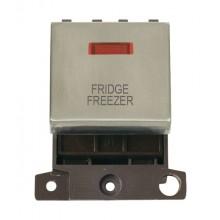 Click MiniGrid MD023SSFF S/Steel DP Fridge Freezer Module + Neon