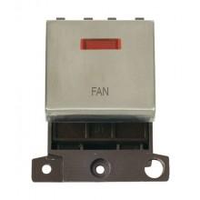 Click MiniGrid MD023SSFN Stainless Steel DP Fan Module + Neon
