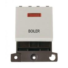 Click MiniGrid MD023WHBL White 20A DP Boiler Module + Neon