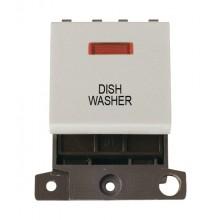 Click MiniGrid MD023WHDW White 20A DP Dishwasher Module + Neon