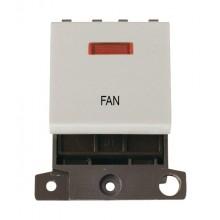 Click MiniGrid MD023WHFN White 20A DP Fan Switch Module + Neon