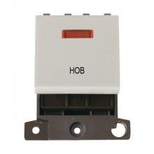 Click MiniGrid MD023WHHB White 20A DP Hob Switch Module + Neon