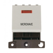 Click MiniGrid MD023WHMW White 20A DP Microwave Module + Neon