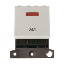 Click MiniGrid MD023WHOV White 20A DP Oven Module + Neon