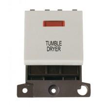 Click MiniGrid MD023WHTD White 20A DP Tumble Dryer Module + Neon