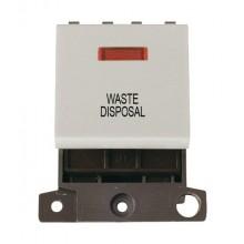 Click MiniGrid MD023WHWD White 20A DP Waste Disposal Mod + Neon