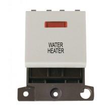 Click MiniGrid MD023WHWH White 20A DP Water Heater Module + Neon