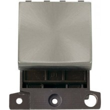 Click MiniGrid MD024BS Brushed Steel 20A 2 Way Switch Module