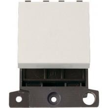 Click Minigrid 20A Switch 2 Way Module Polar White MD024PW