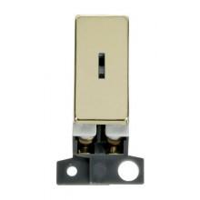 Click MiniGrid MD046BR Pol/Brass Double Pole Keyswitch Module