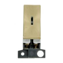 Click MiniGrid MD046SB Satin Brass Double Pole Keyswitch Module