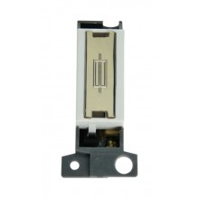 Click MiniGrid MD047WHBR White Pol/Brass Fused Connection Mod