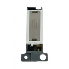 Click MiniGrid MD047WHSS White S/Steel Fused Connection Module