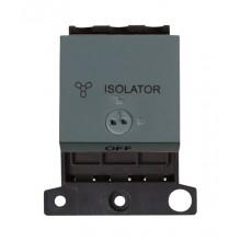 Click MiniGrid MD220BK Black 3 Pole Fan Isolator Lockable Sw Mod