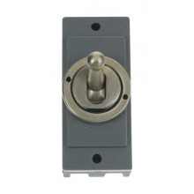 Click MD9102AB Antique Brass 10A Toggle Switch Module