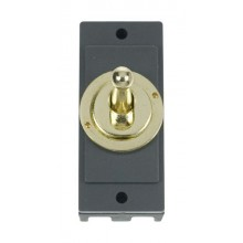 Click MD9102BR Polished Brass 10A Toggle Switch Module