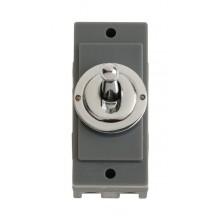 Click MD9102CH Polished Chrome 10A Toggle Switch Module