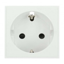 Click New Media MM020WH 1 Gang SCHUKO Socket White