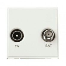 Click New Media MM425WH Diplexed TV and Satellite Module White