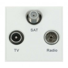 Click New Media MM430WH Triplexed TV, Radio & Sat Module White