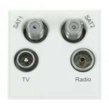 Click New Media MM440WH Quad TV, Radio, Sat1 & Sat2 Module White