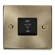 Click Deco Antique Brass 3 Pole Fan Isolator Switch VPAB020BK