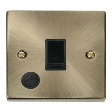 Click Deco 20A Connection Unit Switched Flex Outlet Antique Brass VPAB022BK