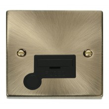 Click Deco Antique Brass Unswitched Fused Spur + F/O VPAB050BK