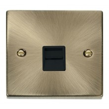 Click Deco Antique Brass Secondary Telephone Socket VPAB125BK