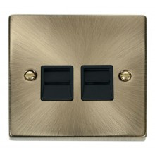 Click Deco Antique Brass Secondary Telephone Socket VPAB126BK