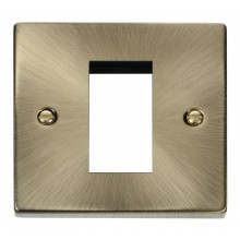 Click Deco Antique Brass New Media Single Aperture Plate VPAB310
