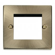 Click Deco Antique Brass New Media Twin Plate VPAB311
