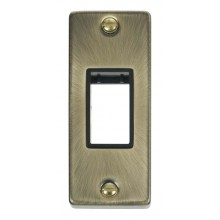 Click Deco Antique Brass 1 Gang Architrave Plate VPAB471BK